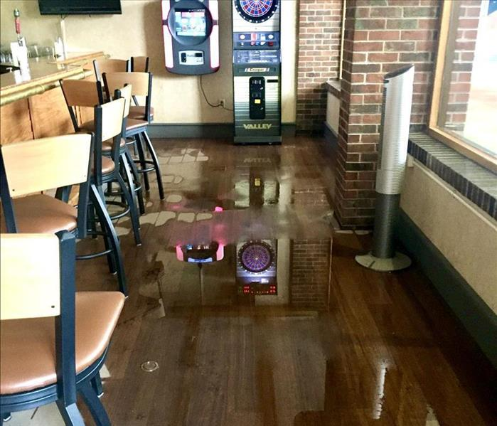 sewage on restaurant floor